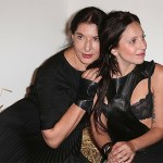 Marina Abramovic and Lady Gaga at Watermill Center Summer Benefit