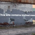 Banksy, This site contains blocked messages