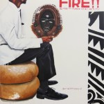 Return to My Native… Acrylic and oil stick on canvas. 60x52 in. 2012. Fahamu Pecou