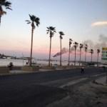 sunset near Plaza des Armas