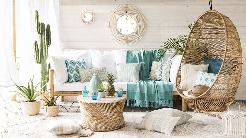 Six new 2018 home decor trends from Maisons du Monde   Fresh Design Blog Contemporary coastal Cabane home interior design trend from Maisons du Monde