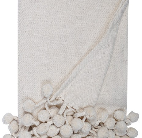 Could this be the perfect throw? A Neutral Pom Pom Blanket.