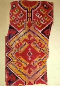 Samt-Ikat, Zentralasien, 19.Jh. (Foto: Walter Haberland)