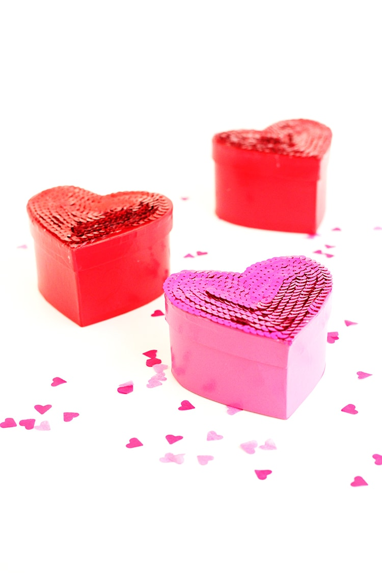 Sequined Candy Boxes