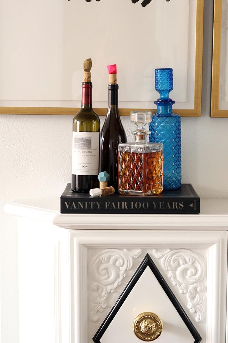 DIY Geometric Bottle Stoppers