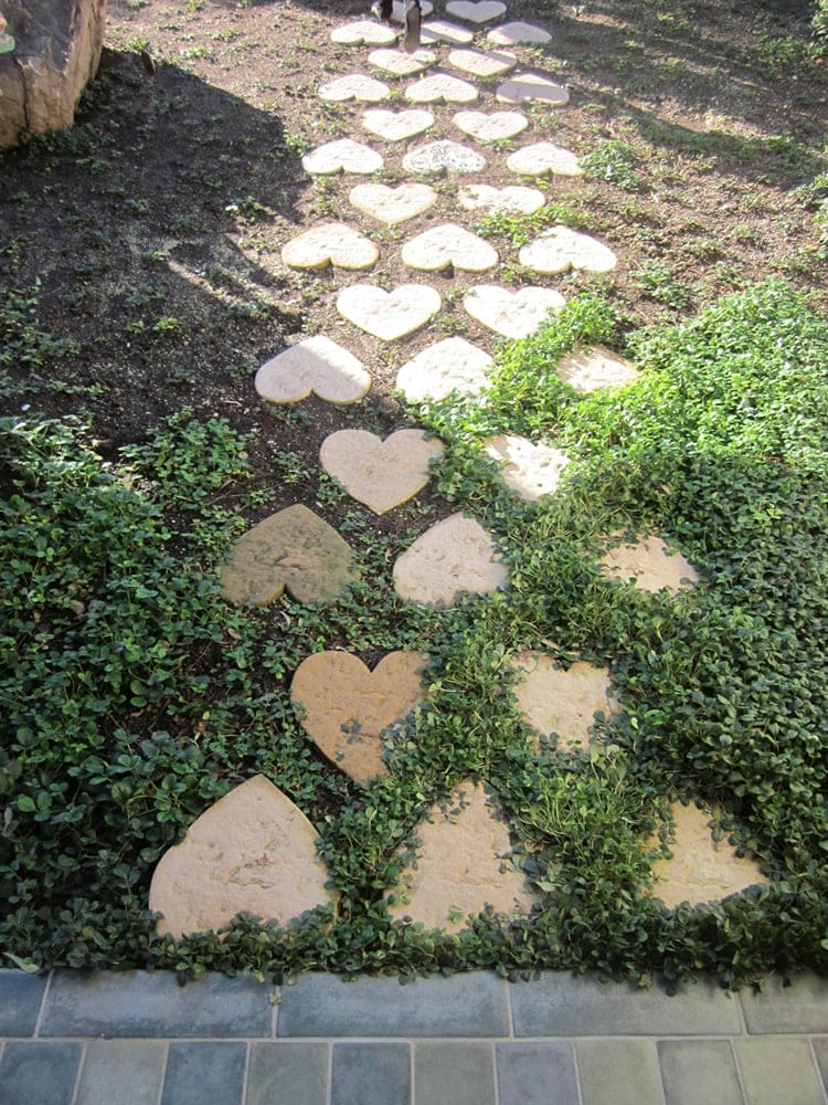 Backyard Kidspaces Heart Walkway
