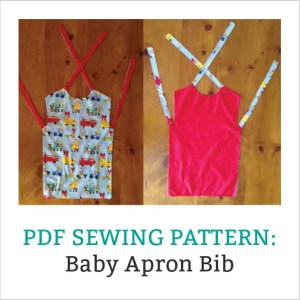 An Apron Bib Sewing Pattern & Instructions PDF download