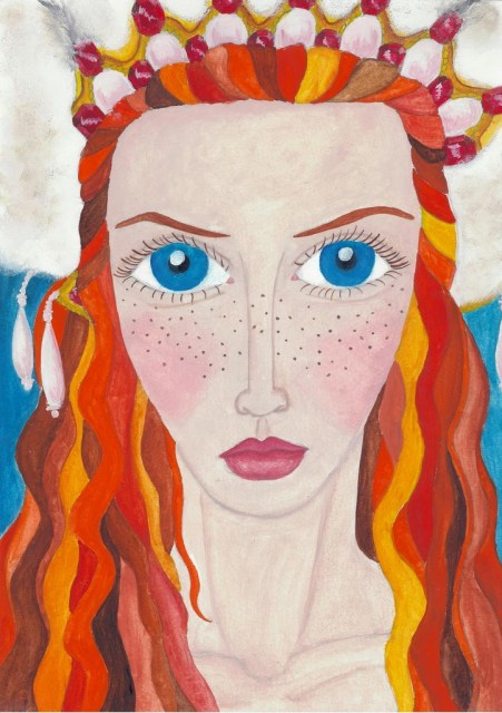 Frida Jonsson portrait of Lily Cole