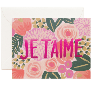 rifle paper co. je t'aime greeting card