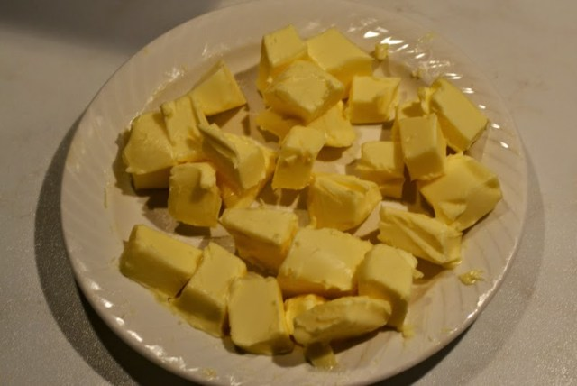 chopped butter