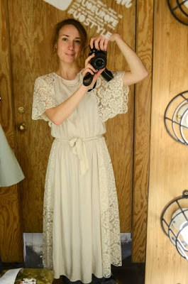 & Other Stories white lace dress