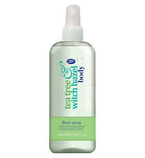 Boots Tea Tree Witch Hazel Body Back Spray