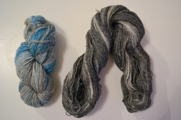 Uncoiled hank of ombre yarn