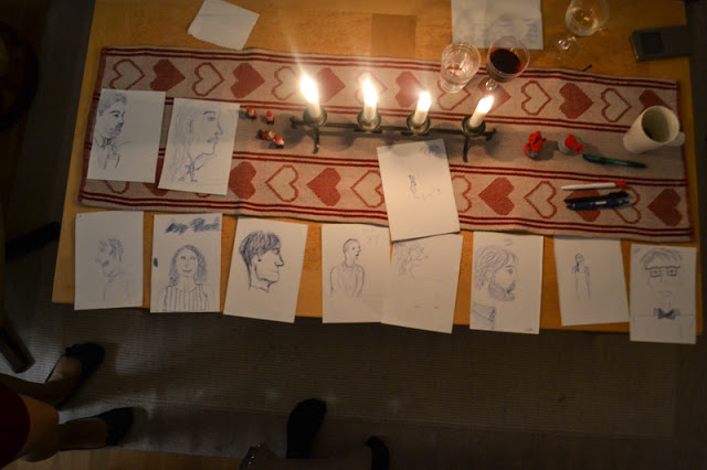 final portraits on table