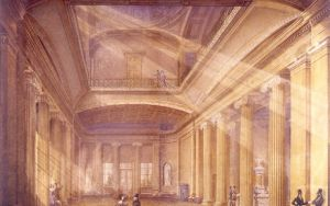 Pittville Pump Room 1840s, through the light card