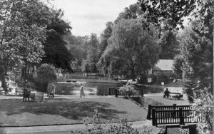 Boating lake and lawn 1930s/40s