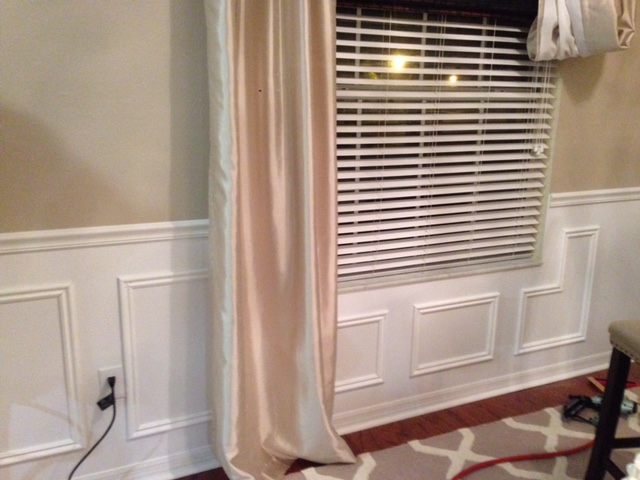 DIY Faux Wainscoting - Frills & Drills Wainscoting End on