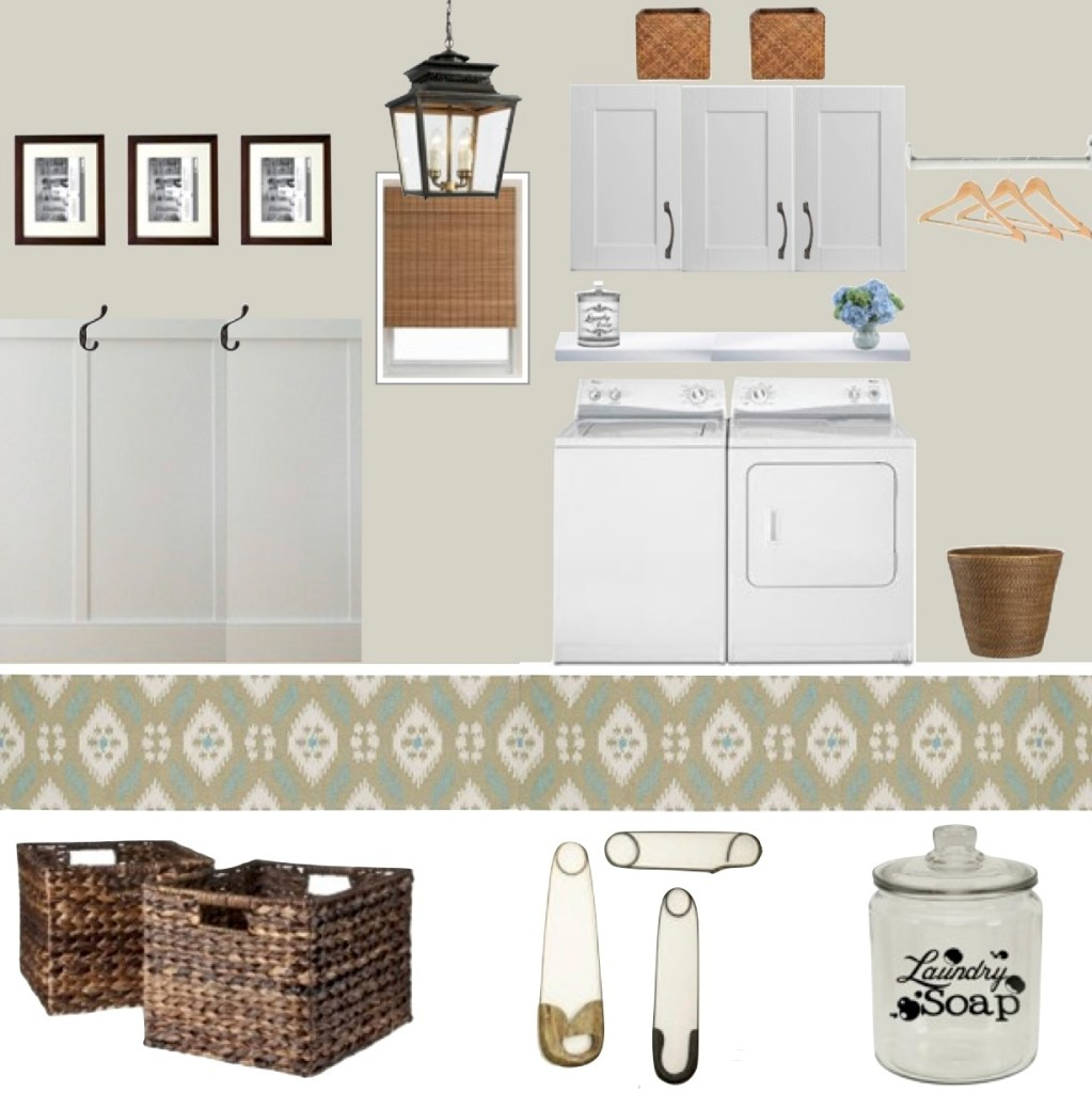 Laundry Room Design Board