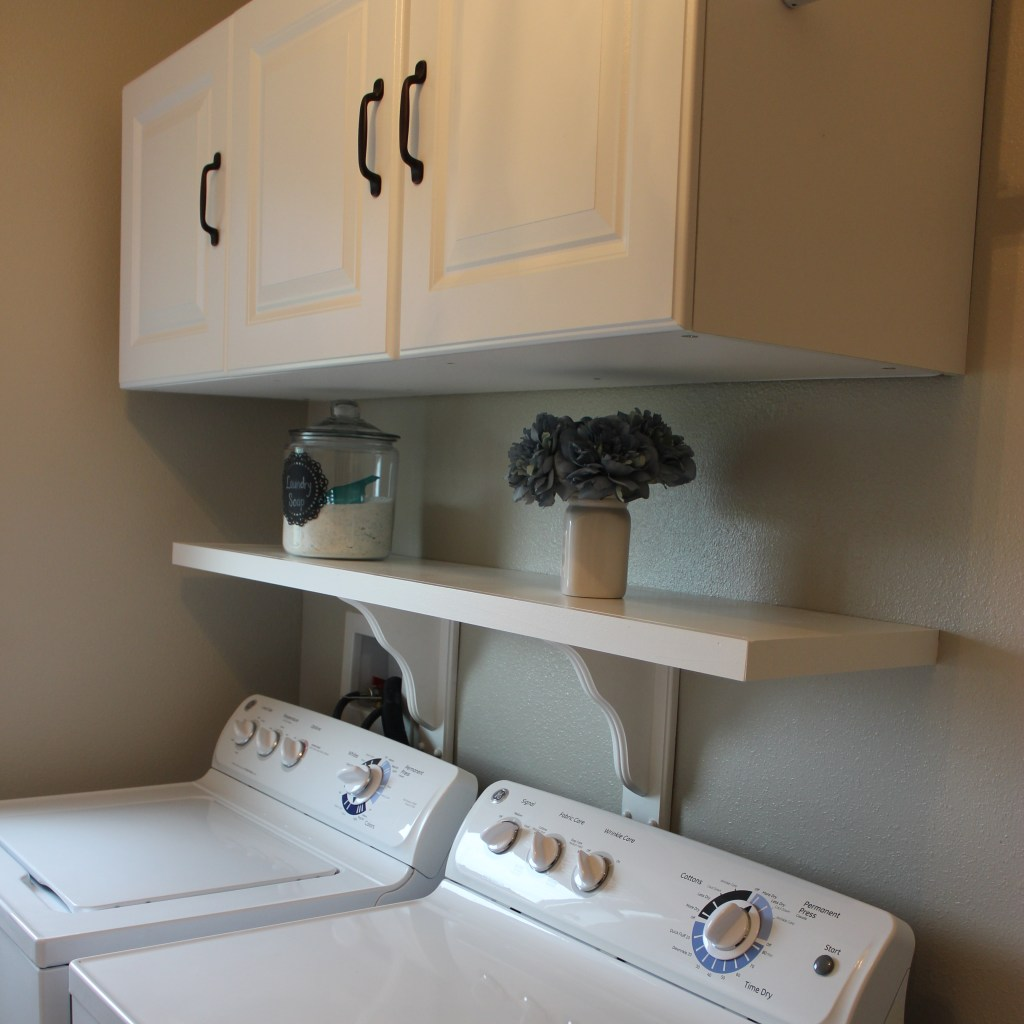 Laundry Room Shelf & Cabinets