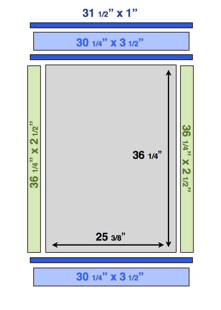 DIY Window Frame - Frills and Drills