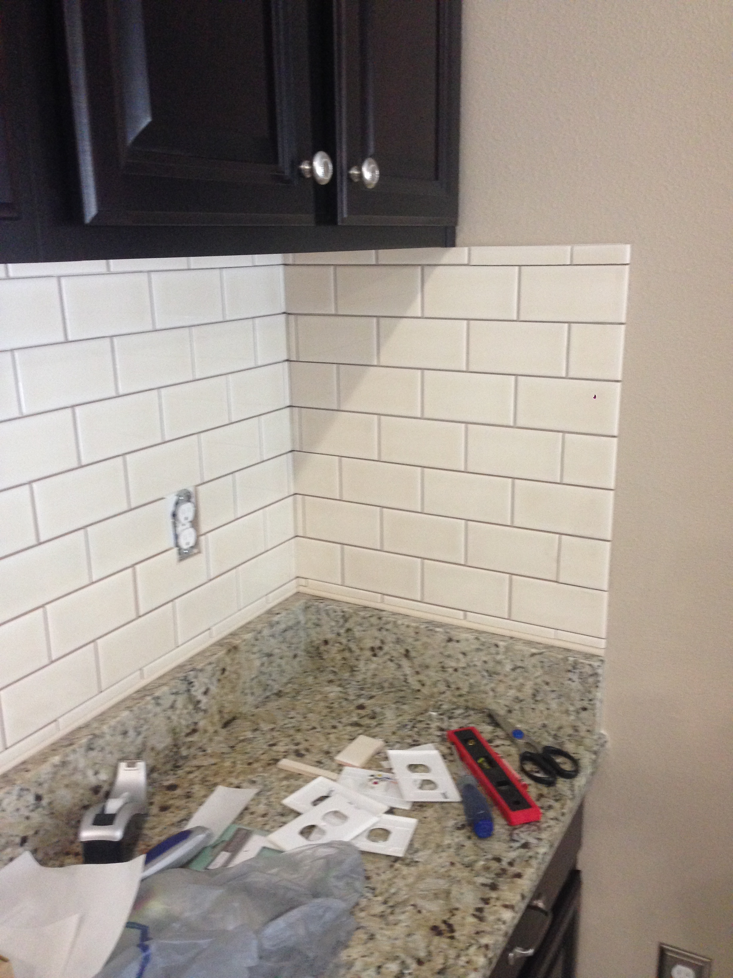 DIY Kitchen Backsplash - Frills & Drills