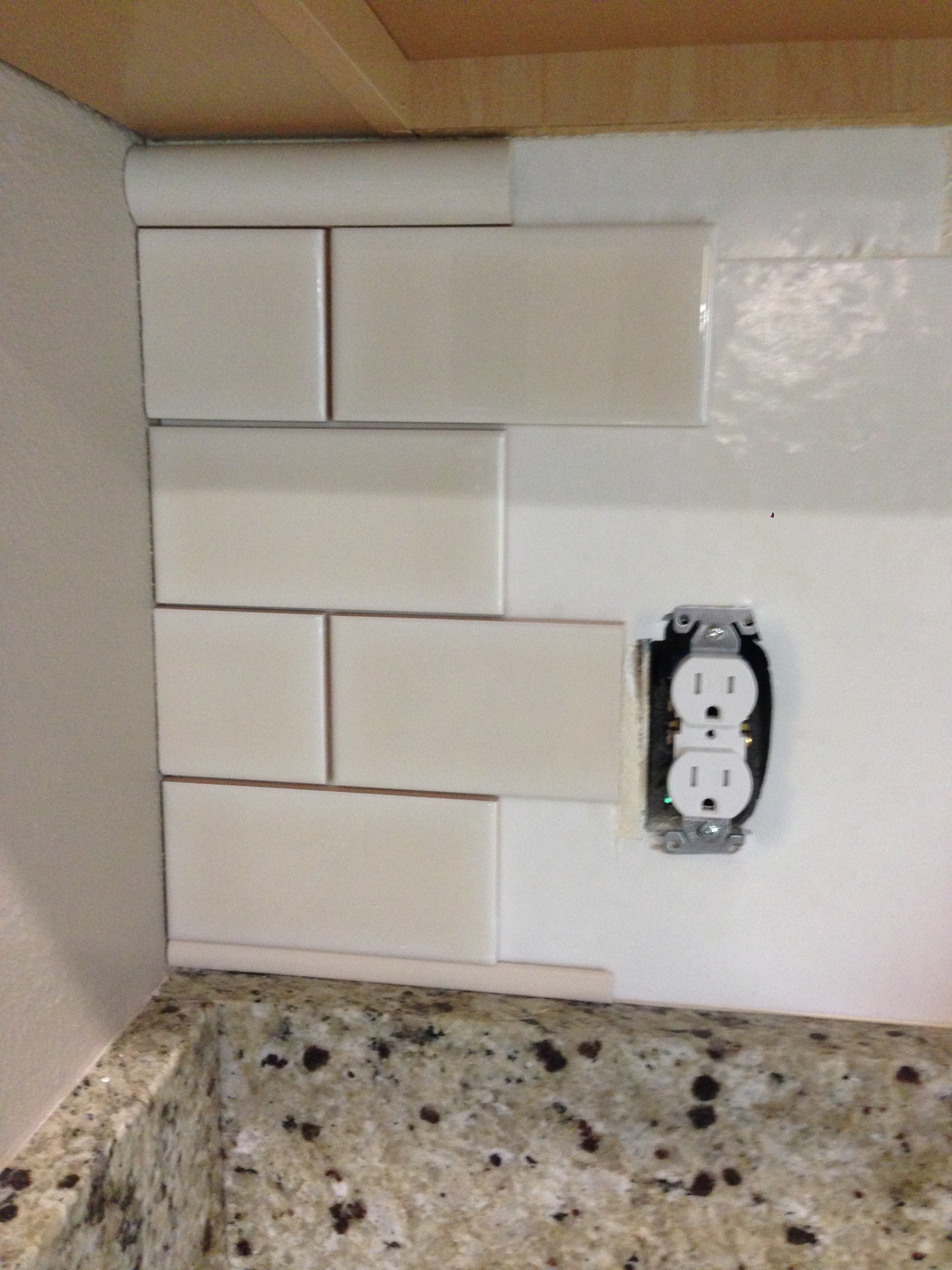 Diy kitchen backsplash frills drills here are the type of cuts i made using my tile cutter only ones where the tile was cut in half either length or width dailygadgetfo Choice Image