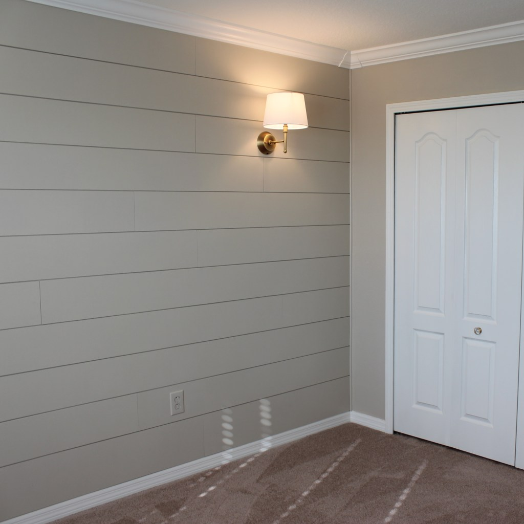 DIY Shiplap Nursery Wall