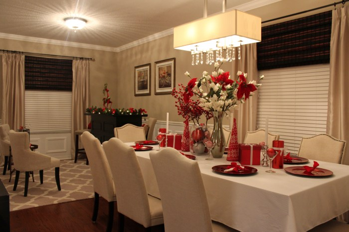 christmas dining room decor tablescape
