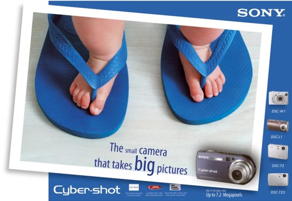 SONY cybershot leaflet 600x413 The small camera that takes BIG pictures
