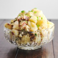 Warm German Potato Salad for Man Food Mondays