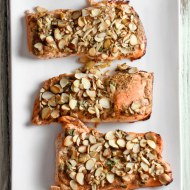 Almond Crusted Salmon for Man Food Monday