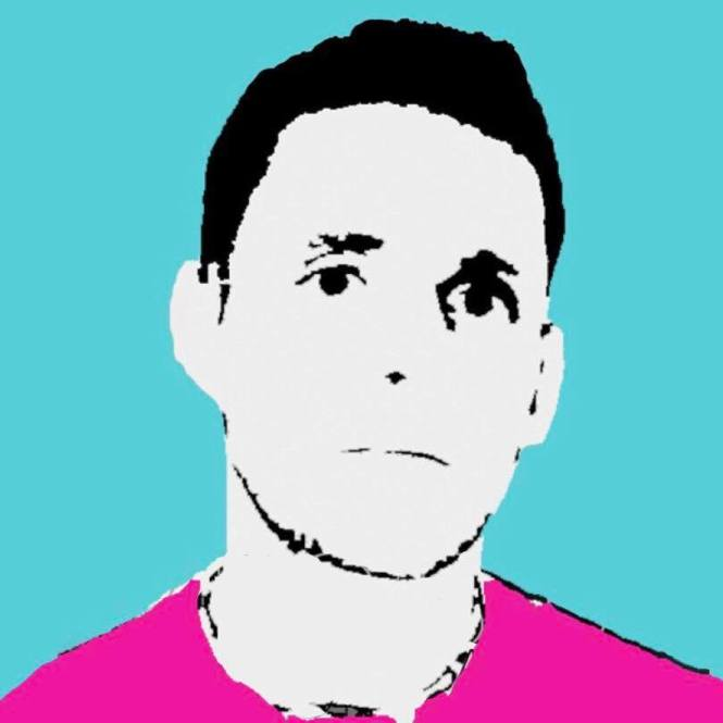 Sketch illustration Temporary Hero top island R&B singer