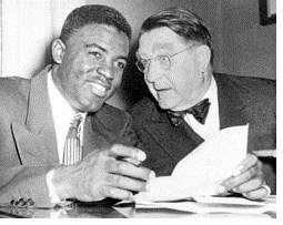 Jackie Robinson and Branch Rickey