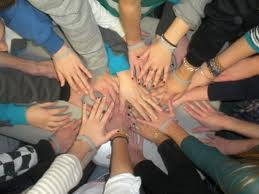 all hands together