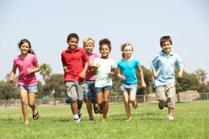 kids running A