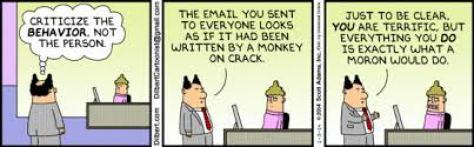 Dilbert on constructive criticism