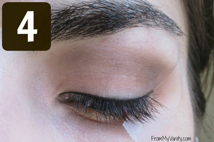 Secret to the Perfect Winged Liner Tutorial | Step 4 | FromMyVanity.com