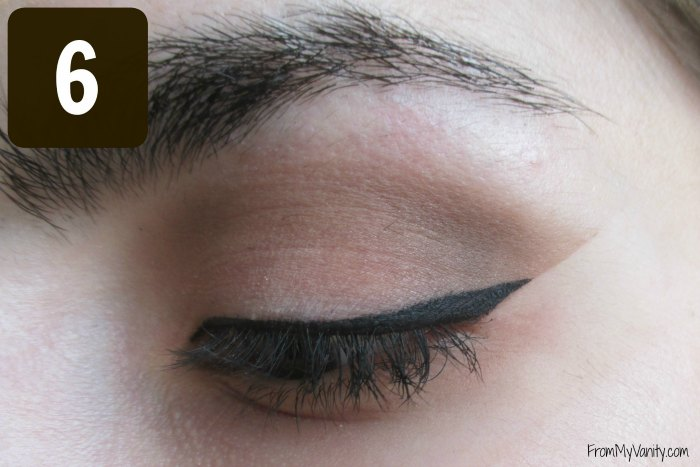 Secret to the Perfect Winged Liner Tutorial | Finished Results | FromMyVanity.com