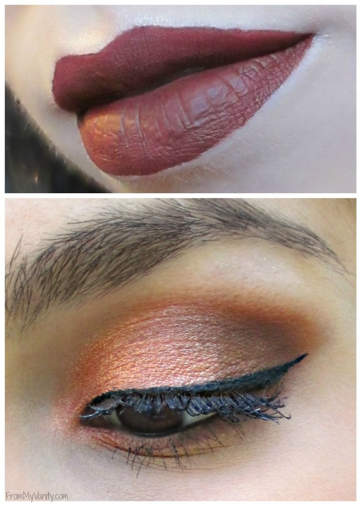 Fall-Inspired Face of the Day // featuring Too Faced Semi-Sweet Chocolate Bar Palette // Close Up of Eyes and Lips // #bbcchallenge #fotd #toofaced FromMyVanity.com
