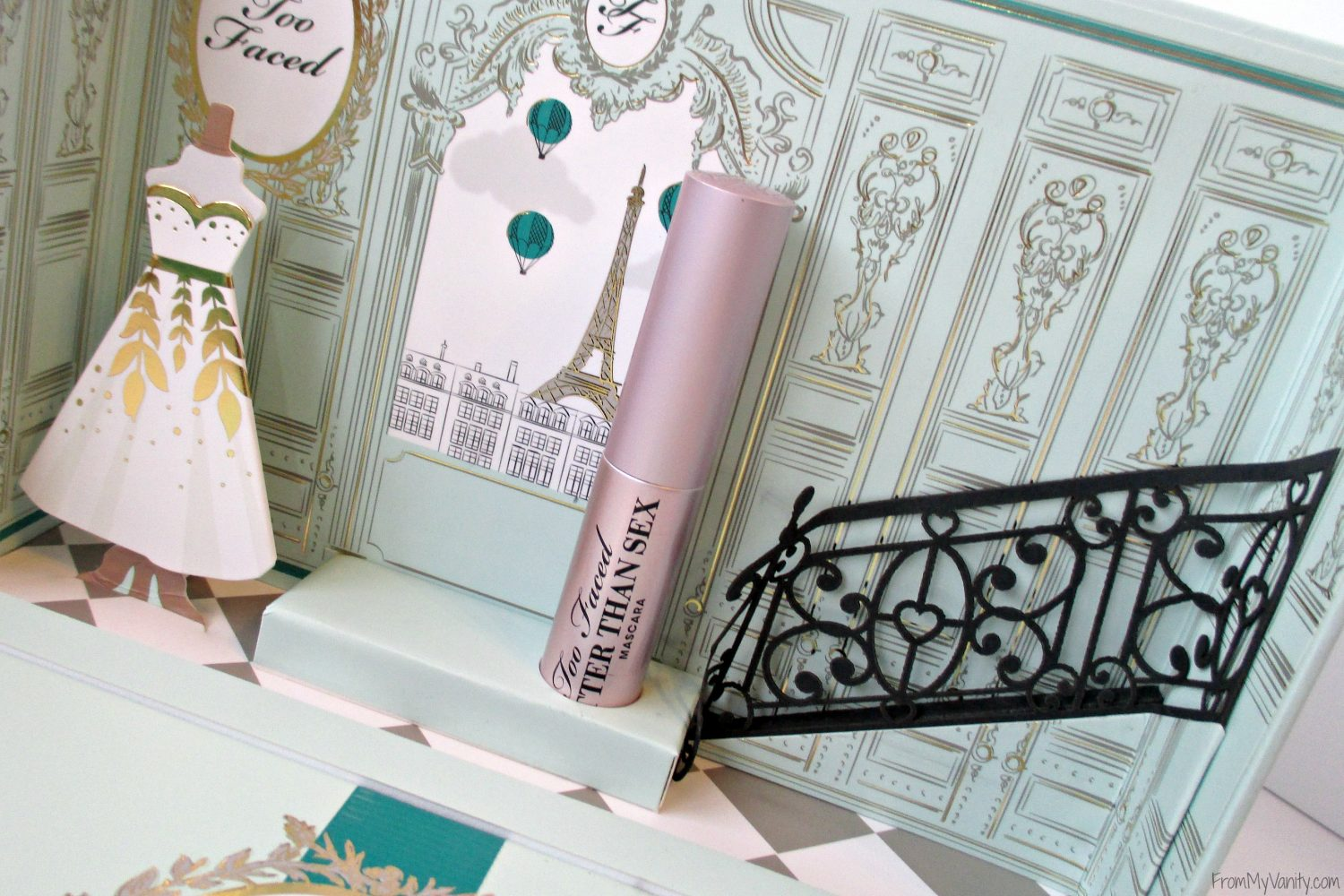 Too Faced La Petite Maison // Holiday Set // Review & Swatches // Close Up Mini #BetterThanSex Mascara #UltaBeauty #TooFaced FromMyVanity.com