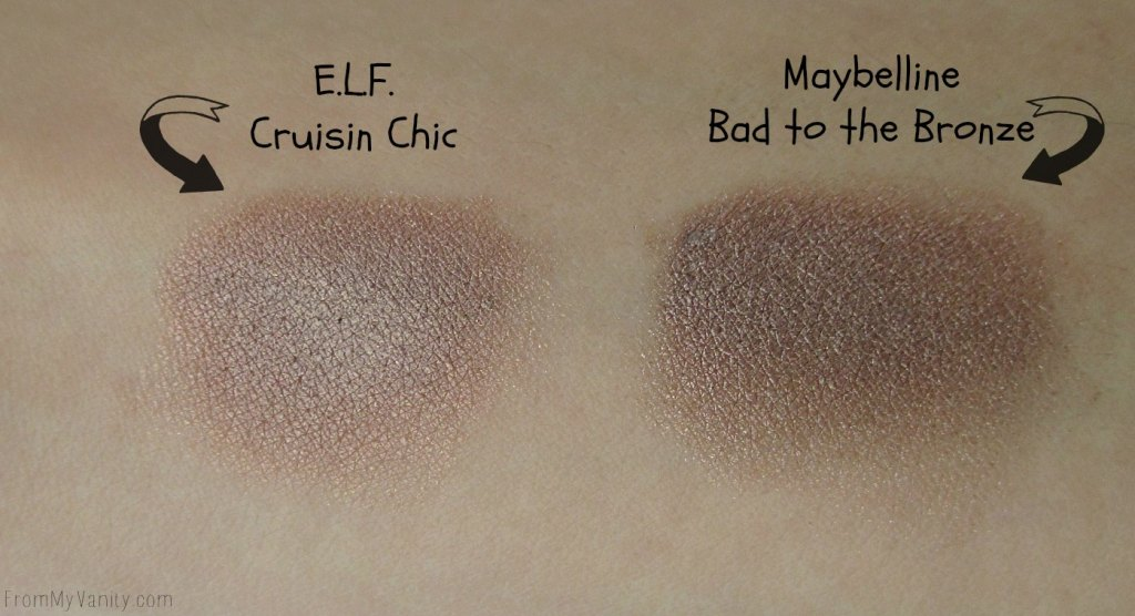 Dupe or Dud // Maybelline Color Tattoo vs ELF Smudge Pot // Bad to the Bronze // Cruisin Chic // Arm Swatches // FromMyVanity.com