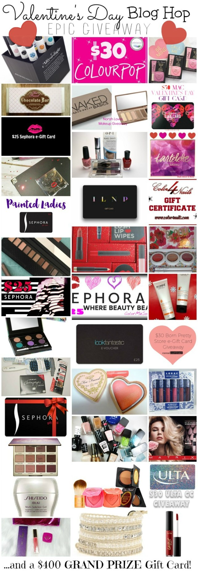 Valentine's Day Blog Hop Giveaway // 38 Beauty Bloggers, 38 Prizes, & ONE $400 GRAND PRIZE!