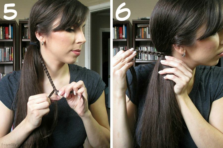 Quick Hairstyles for Busy Moms // Goody Brushes // Ponytail Steps 5 & 6 // FromMyVanity.com #goody #hairstyles