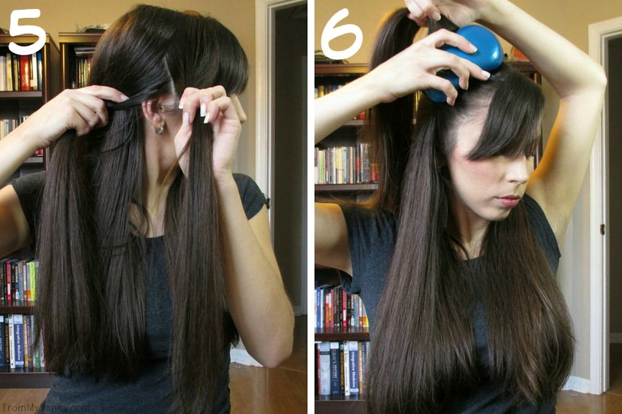 Quick Hairstyles for Busy Moms // Goody Brushes // Updo Steps 5 & 6 // FromMyVanity.com #goody #hairstyles