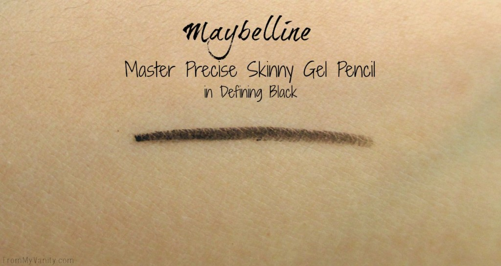 New Products from Milani, NYX Cosmetics, and Maybelline // Master Precise Skinny Gel Pencil Swatch #Milani #Maybelline #NYXCosmetics // FromMyVanity.com @LadyKaty92