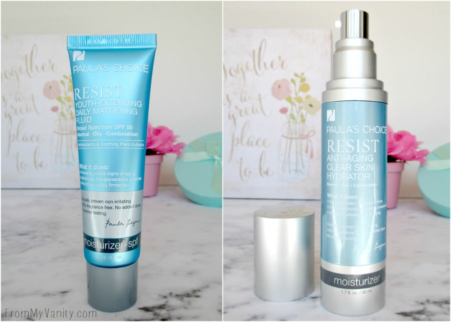 RESIST day and night moisturizers from Paula's Choice - they sound fantastic!