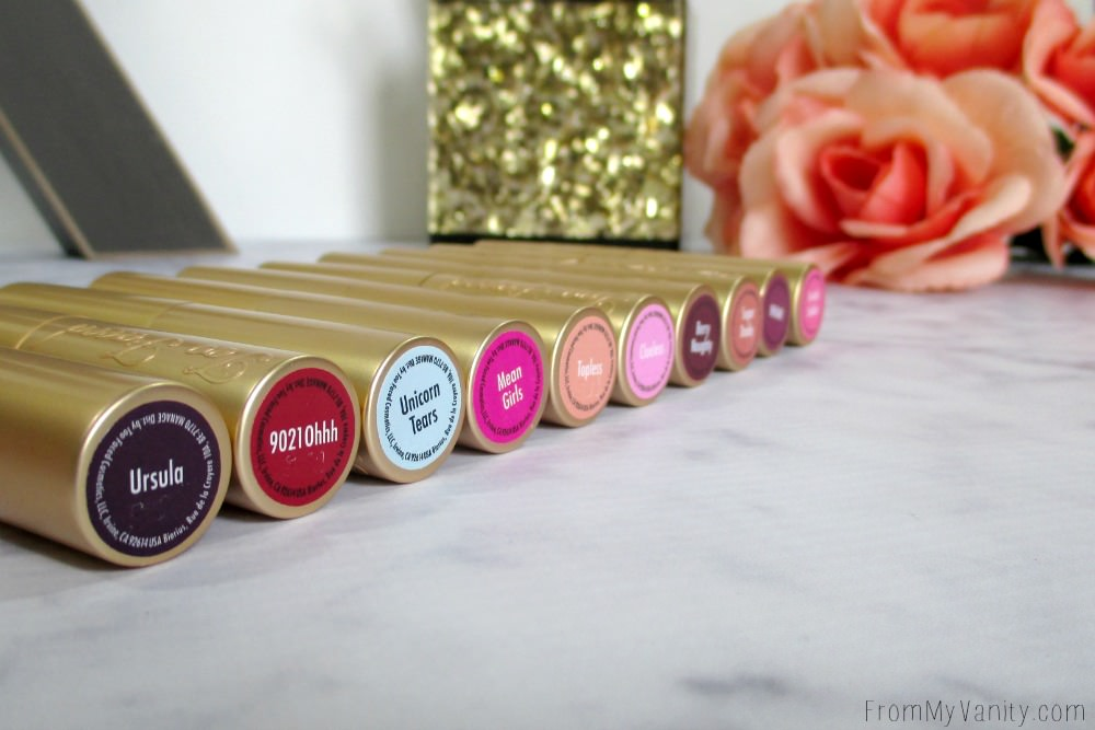 A look at all the new shades that Too Faced added to their La Creme Color Drenched Lipstick line!