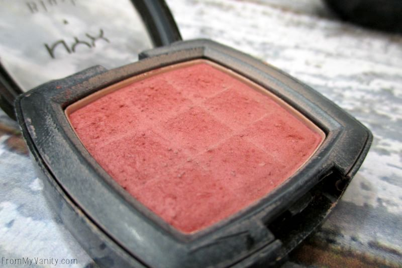 The discontinued NYX blush shade in Dusty Rose
