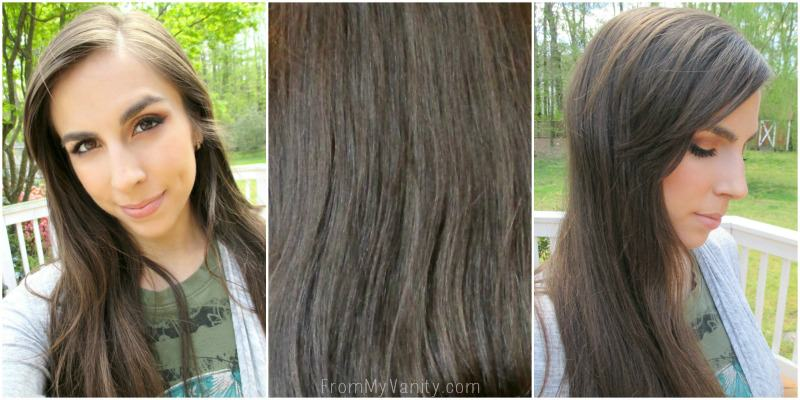 My hair before I used the John Frieda Brilliant Brunette® Visibly Deeper™ Colour Deepening Treatment