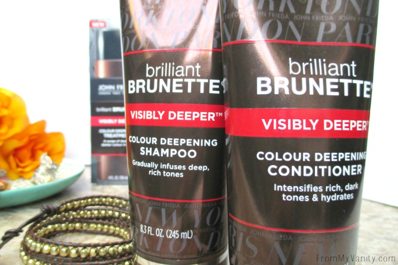 This Brilliant Brunette® Visibly Deeper™ Shampoo & Conditioner make your hair so silky soft. Gotta try it!